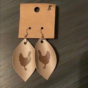 Chicken Earrings